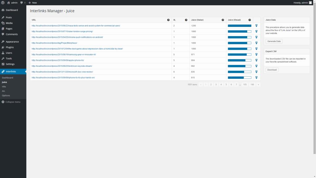 افزونه مدیریت لینک های داخلی Interlinks Manager