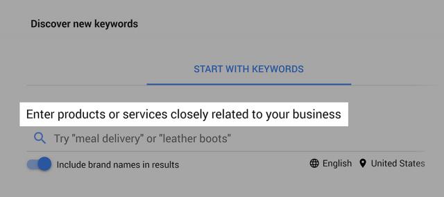 پیدا کردن کلمات کلیدی جدید